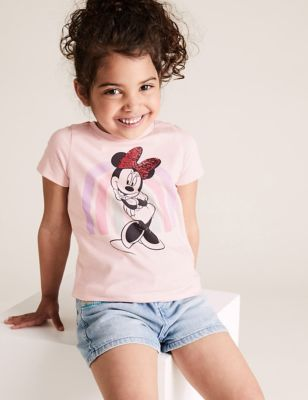 Pure Cotton Minnie Mouse™ Rainbow T-Shirt (2-7 Yrs)