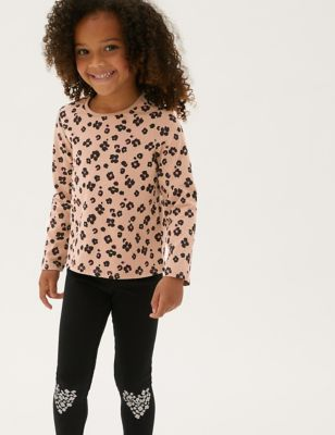 3pk Cotton Patterned Tops (2-7 Yrs)