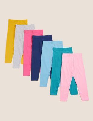 7pk Cotton Leggings (2-7 Yrs)