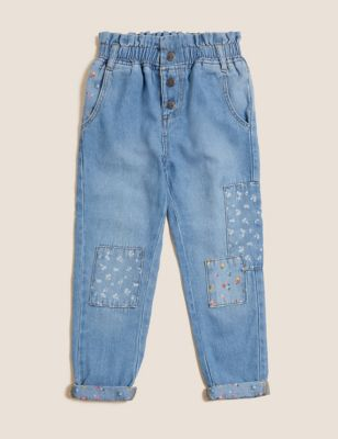 Relaxed Denim Floral Jeans (2-7 Yrs)