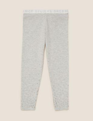 Cotton Glitter Star Print Leggings (2-7 Yrs)