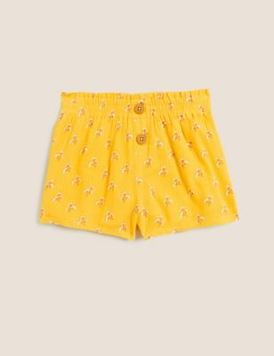 Pure Cotton Floral Shorts (2-7 Yrs)