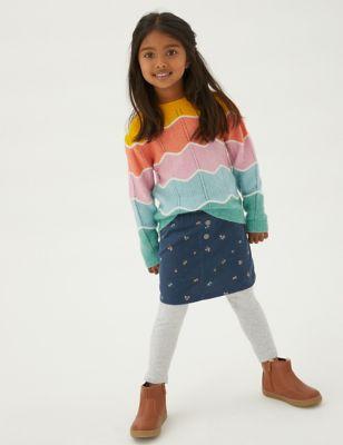 Mini Pure Cotton Floral Skirt (2-7 Yrs)
