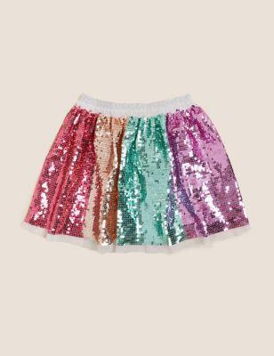 Rainbow Sequin Skirt (2-7 Yrs)