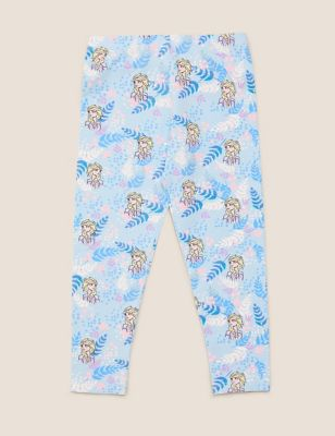 Cotton Disney Frozen™ Print Leggings (2-10 Yrs)