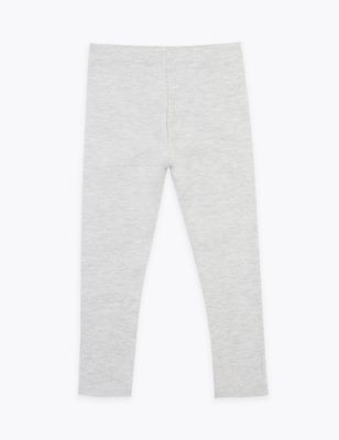 Cotton With Stretch Plain Leggings (2-7 Yrs)