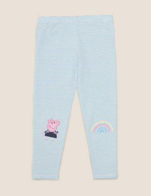 Cotton Peppa Pig™ Striped Leggings (2-7 Yrs)