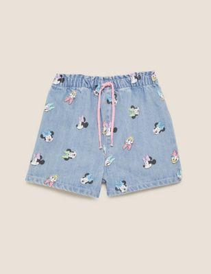 Denim Minnie™ Shorts (2-7 Yrs)