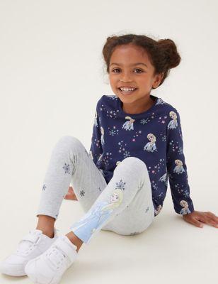 2pk Cotton Disney Frozen™ Leggings (2-10 Yrs)