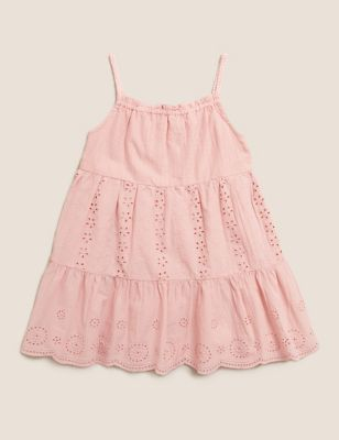 Pure Cotton Tiered Dress (2-7 Yrs)