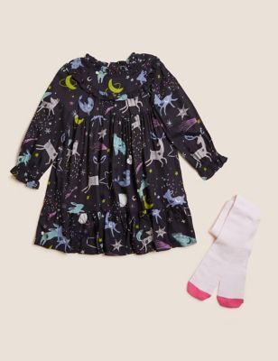 2pc Cotton Space Print Outfit (2-7 Yrs)
