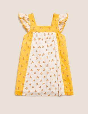 Pure Cotton Floral Dress (2-7 Yrs)