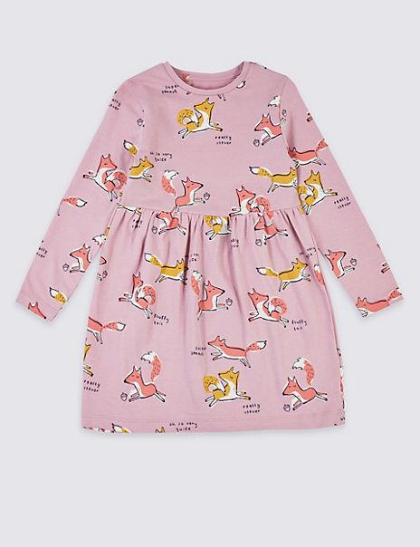 Fox Print Dress (3 Months - 7 Years)