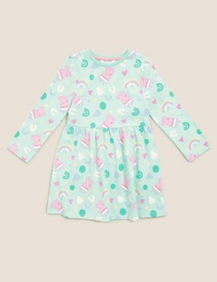 Pure Cotton Peppa Pig™ Dress (2-7 Yrs)