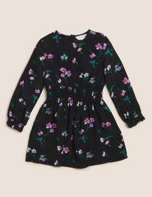Floral Shirred Dress (4-7 Yrs)