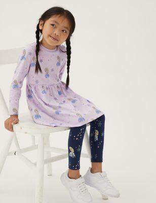 Pure Cotton Disney Frozen™ Dress (2-10 Yrs)
