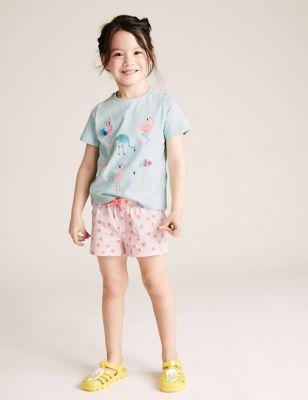 3pk Cotton Patterned Shorts (2-7 Yrs)