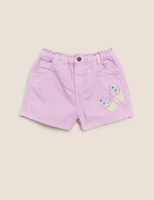 Denim Butterfly Shorts (2-7 Yrs)