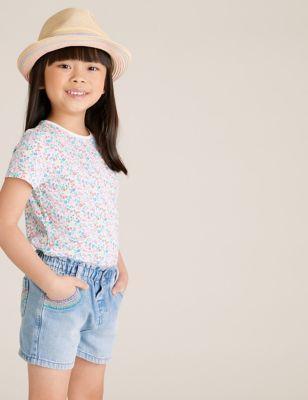 Denim Rainbow Shorts (2-7 Yrs)