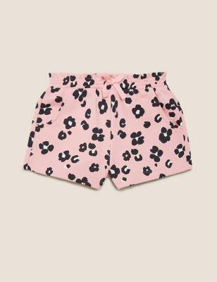 Cotton Leopard Print Shorts (2-7 Yrs)