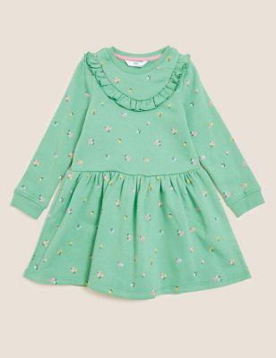 Cotton Floral Frill Dress (2-7 Yrs)