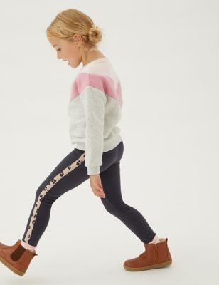 Cotton Super Soft Side Stripe Leggings (2-7 Yrs)