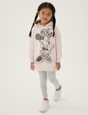 Cotton Hooded Minnie Mouse™ Dress (2-7 Yrs)
