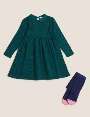 2pc Dress and Tights Set (2-7 Yrs)