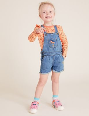 Denim Dungaree Floral Outfit (2-7 Yrs)