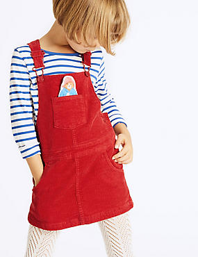 Paddington™ Striped Top & Pinafore Outfit (3 Months - 6 Years), RED MIX, catlanding