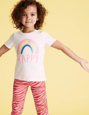 Pure Cotton Happy T-Shirt (2-7 Yrs)