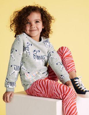 Cotton Zebra Sweatshirt