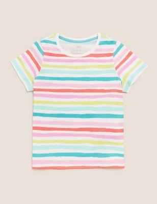 Pure Cotton Striped T-Shirt (2-7 Yrs)