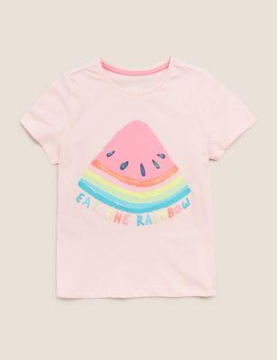 Pure Cotton Melon T-Shirt (2-7 Yrs)