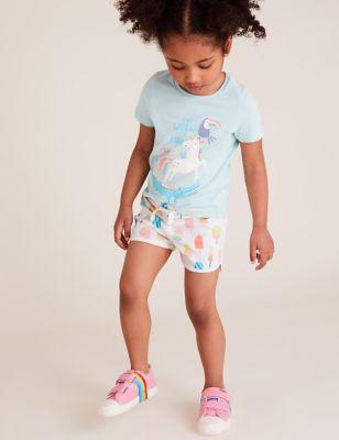 Cotton Lolly Print Shorts (2-7 Yrs)