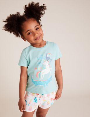 Pure Cotton Unicorn T-Shirt (2-7 Yrs)