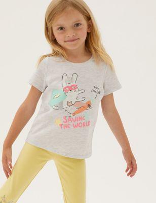Cotton Super Bunny Print T-Shirt (2-7 Yrs)
