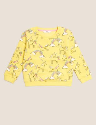 Cotton Unicorn Sweatshirt (2-7 Yrs)