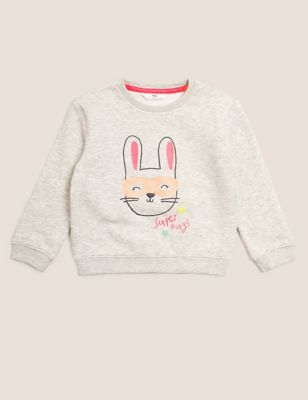 Cotton Bunny Sweatshirt (2-7 Yrs)