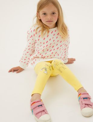 Cotton Unicorn Print Leggings (2-7 yrs)