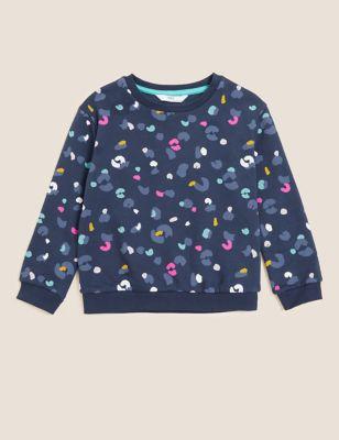 Cotton Leopard Print Sweatshirt (2-7 Yrs)