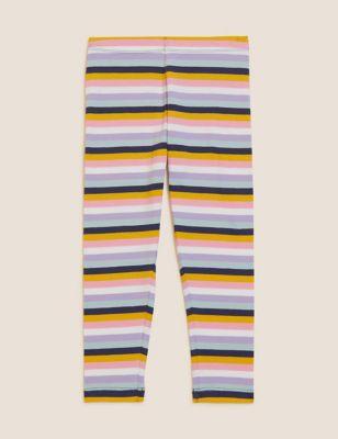 Cotton Striped Leggings (2-7 Yrs)