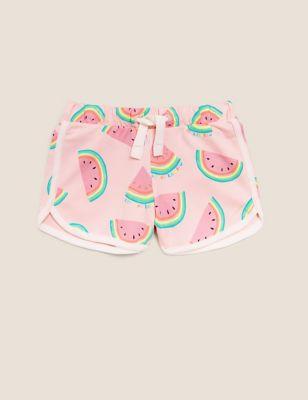 Cotton Melon Print Shorts (2-7 Yrs)