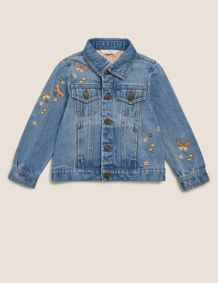 Embroidered Denim Jacket(2-7 Yrs)