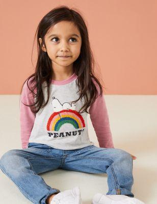 Cotton Snoopy™ Rainbow Top