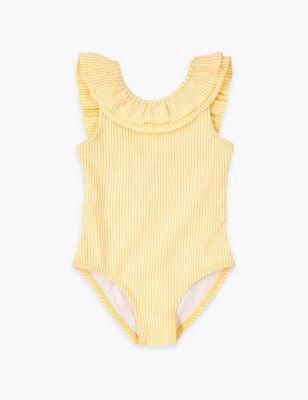 Striped Seersucker Swimsuit (2-7 Yrs)