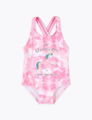 Tie Dye Unicorn Swimsuit (2-7 Yrs)