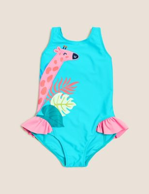 Giraffe Print Swimsuit (2-7 Yrs)