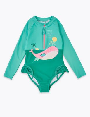 Whale Long Sleeve Swimsuit (2-7 Yrs)