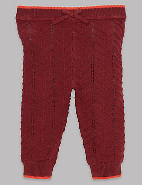 Knitted Leggings with Cashmere, DARK CLARET, catlanding